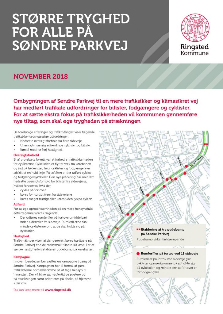 Info folder Søndre Parkvej om trafik